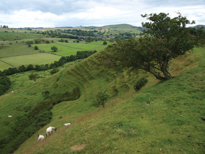 Looking back to Hartington from the Harris Close path